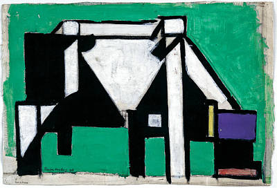 Sean Rights Managed Images - Theo van Doesburg Dutch 1883 1931 Study for Composition VIII The Cow  c 1917 Royalty-Free Image by Artistic Rifki