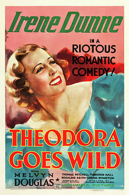 Royalty-Free and Rights-Managed Images - Theodora Goes Wild movie poster, with Irene Dunne, 1936 by Stars on Art