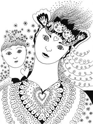 Drawings Royalty Free Images - There Is Beauty In Innocence Royalty-Free Image by Helena Tiainen