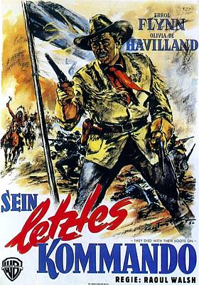 Royalty-Free and Rights-Managed Images - They Died With Their Boots On, with Errol Flynn by Stars on Art