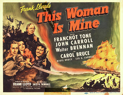 Halloween Movies - This Woman is Mine 1941 by Stars on Art