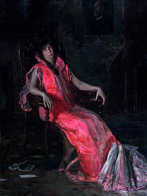 Winter Animals - Thomas Eakins 1844 1916 An Actress Portrait of Suzanne Santje  1903 by Artistic Rifki