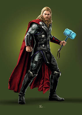 Royalty-Free and Rights-Managed Images - Thor - Marvel by Samuel Whitton