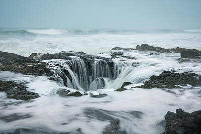 Photograph - Thor's Well by Scott Slone