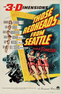 Mixed Media Royalty Free Images - Those Redheads from Seattle, with Rhonda Fleming, 1953 Royalty-Free Image by Stars on Art