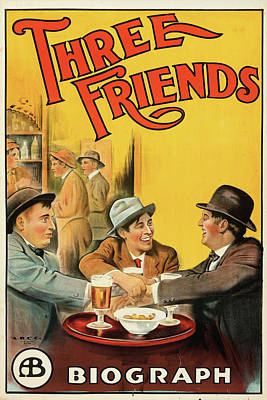 Halloween Movies - Three Friends 1913 by Stars on Art