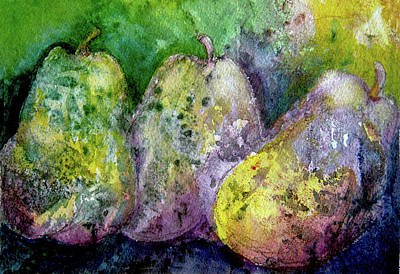 Amy Hamilton Animal Collage - Three Over-ripe Pears by Michele Avanti