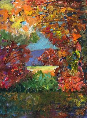Painting - Through Fall Foliage by Jessel Miller