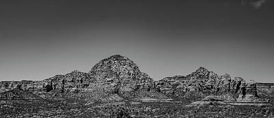 Landscapes Royalty-Free and Rights-Managed Images - Thunder Mountain Sedoa Arizona in Black and White by Jeremy Rickman