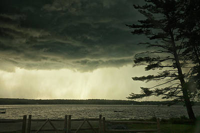 Landscapes Royalty-Free and Rights-Managed Images - Thunderstorm  by Renata Natale