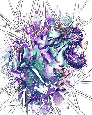 Animals Digital Art - Tiger Abstract by Bekim M