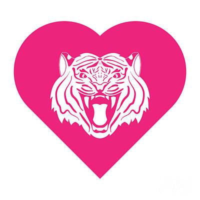 Studio Grafika Zodiac - Tiger Cares Pink by College Mascot Designs
