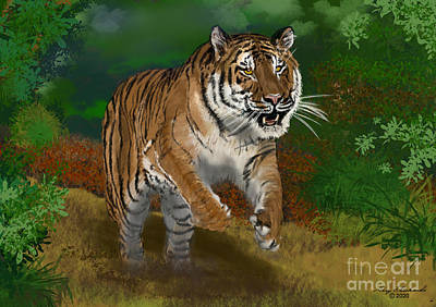 Design Pics - Tiger Chase by Gary F Richards