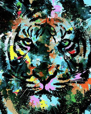 Animals Digital Art - Tiger Expression by Bekim M