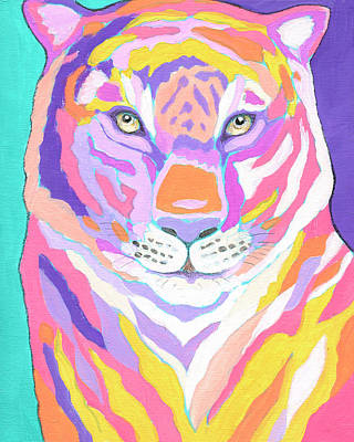 Animals Paintings - Tiger II by Jennifer Lommers