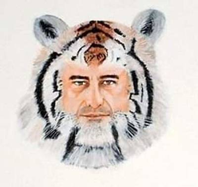 Animals Paintings - Tiger Man by Mackenzie Moulton