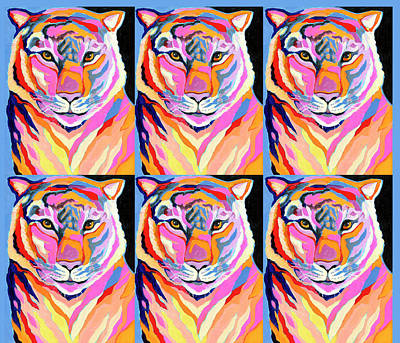 Royalty-Free and Rights-Managed Images - Tiger Pop Art I by Jennifer Lommers