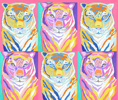 Royalty-Free and Rights-Managed Images - Tiger Pop Art II by Jennifer Lommers