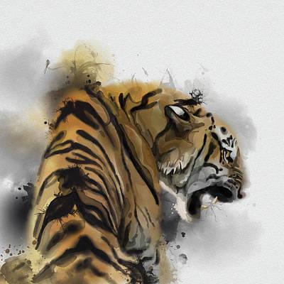 Animals Digital Art - Tiger Portrait by Bekim M