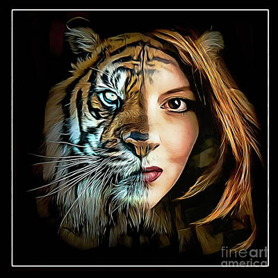 Animals Royalty-Free and Rights-Managed Images - Tiger Queen by Brian Tarr