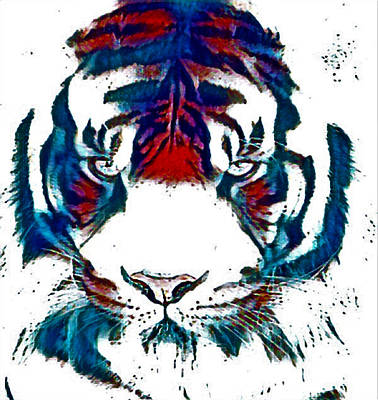 Abstract Royalty-Free and Rights-Managed Images - Tiger Splash  by PhotoArtLJR