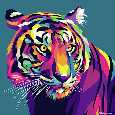 Royalty-Free and Rights-Managed Images - Tiger by Stars on Art