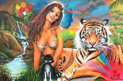 Painting - Tiger Woman by Robert Korhonen