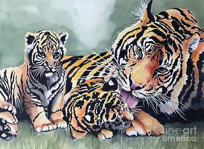 Latidude Image - Tigers by Hilda Vandergriff