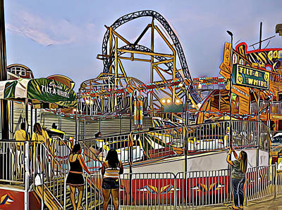 Surrealism Royalty-Free and Rights-Managed Images - Tilt-a-Whirl by Surreal Jersey Shore