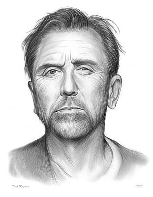 Drawings Royalty Free Images - Tim Roth Royalty-Free Image by Greg Joens