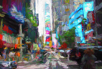 Superhero Ice Pop - Times Square Abstract by Francis Sullivan