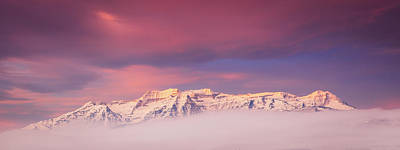 Surrealism Royalty Free Images - Timp Winter Fog Pano Royalty-Free Image by Johnny Adolphson