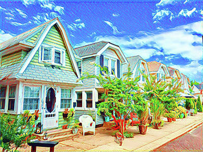 Surrealism Digital Art - Tiny Houses on Wovern Place by Surreal Jersey Shore