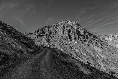 Caravaggio - Titus Canyon Trail - Black and White by Peter Tellone
