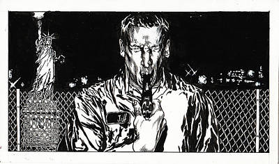 Drawing - To Live and Die in New York by Dan Henk
