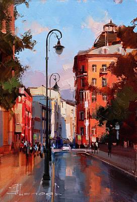 Impressionist Landscapes - To the Patrick. Malaya Bronnaya by Alexey Shalaev
