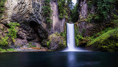 City Scenes - Toketee Falls by Pelo Blanco Photo