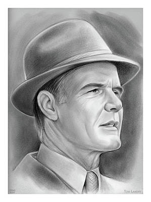 Drawings Royalty Free Images - Tom Landry - Pencil Royalty-Free Image by Greg Joens