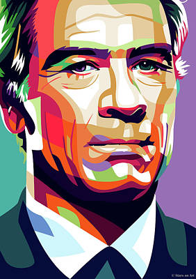 Curated Round Beach Towels - Tommy Lee Jones by Stars on Art
