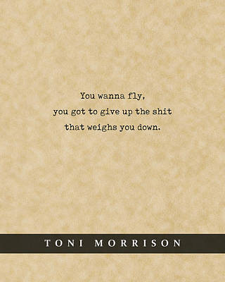 Royalty-Free and Rights-Managed Images - Toni Morrison - Quote Print - Literary Poster 02 by Studio Grafiikka