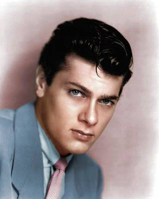 Royalty-Free and Rights-Managed Images - Tony Curtis colorized by Stars on Art