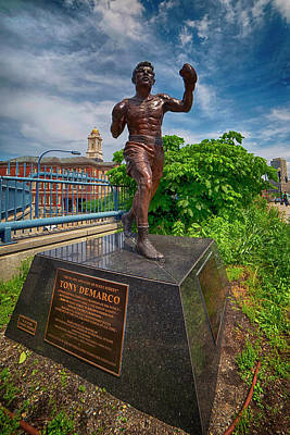 Farmhouse Royalty Free Images - Tony Demarco Statue Royalty-Free Image by Joann Vitali
