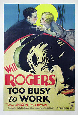 Royalty-Free and Rights-Managed Images - Too Busy to Work, 1932 by Stars on Art