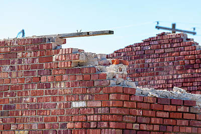 Photograph - Topless Bricks by Erich Grant