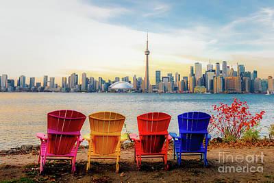 Classic Golf - Toronto cityscape by Helen Filatova