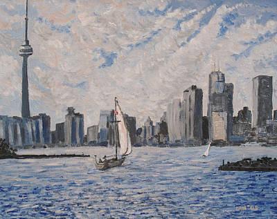 Painting Royalty Free Images - Toronto Harbor East Gap Royalty-Free Image by Ian  MacDonald