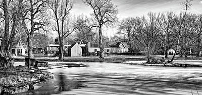 Fun Patterns - Toronto Island In Winter, black and white by Maria Faria Rodrigues