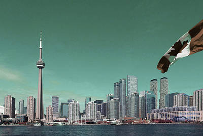 Surrealism Royalty-Free and Rights-Managed Images - Toronto skyline - Surreal Art by Ahmet Asar by Celestial Images
