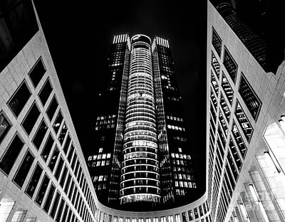 Old Masters - Tower 185 in Black and White by Norma Brandsberg