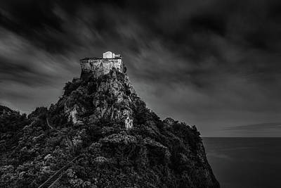 Bringing The Outdoors In - Tower of Capo di Conca BnW by Umberto Barone